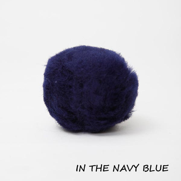 in the navy blue equine ear plugs