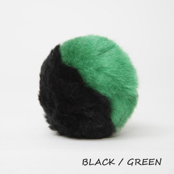 black and green equine ear plugs
