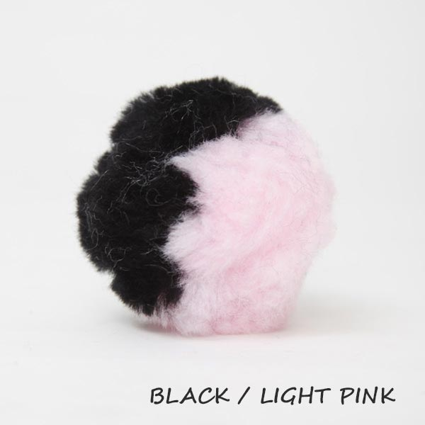 black and light pink equine ear plugs