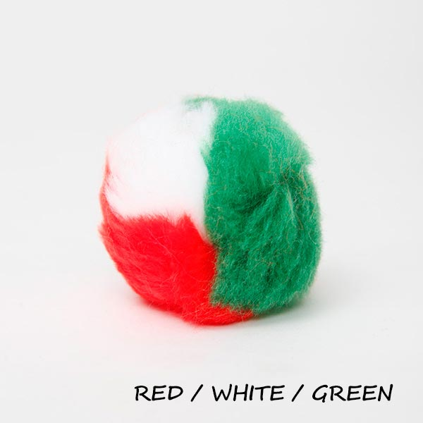 red, white, and green equine ear plugs
